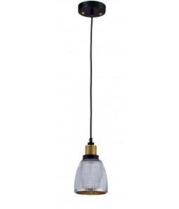 Griestu lampa Maytoni Loft melnā krāsā ar stikla kupolu