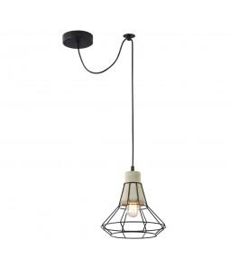 Griestu lampa Maytoni Loft melnā krāsā ar betona detaļām