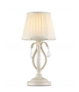 Galda lampa Maytoni Elegant bēšā krāsā ar baltu abažūru