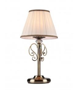 Galda lampa Maytoni Elegant bronzas krāsā ar baltu abažūru