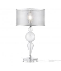 Galda lampa Maytoni Neoclassic hroma krāsā ar stikla detaļām