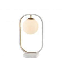 Galda lampa Maytoni Modern baltā krāsā ar zelta detaļām