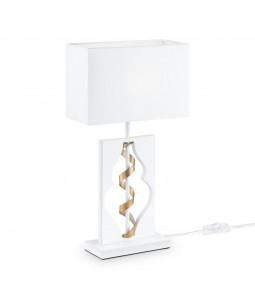 Galda lampa Maytoni Elegant baltā krāsā ar zelta detaļām