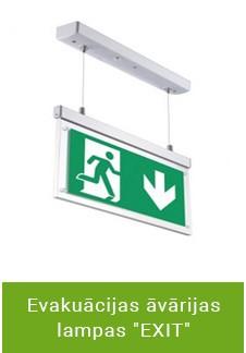 """Evakuācijas āvārijas lampas """"EXIT"""""""