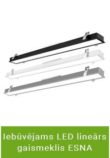 Iebūvējams LED lineārs gaismeklis ESNA