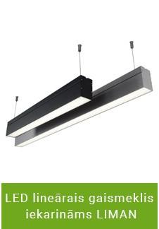 LED lineārais gaismeklis iekarināms LIMAN