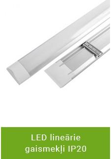 LED lineārie gaismekļi IP20