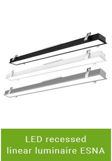 LED recessed linear luminaire ESNA