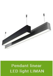 Pendant linear LED light LIMAN
