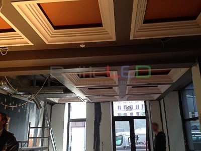 LED panel light 60x60 - Shop in Old Riga, installation
