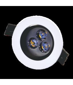 3W Iebūvējams LED gaismeklis, grozāms ANDA