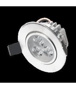 3W Iebūvējams apalš LED gaismeklis, grozāms, metāls LENS