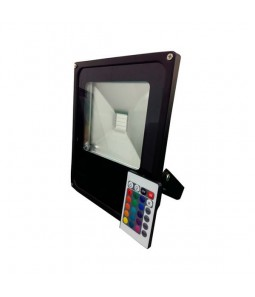10W LED prožektors RGB daudzkrāsu ar pulti IP65