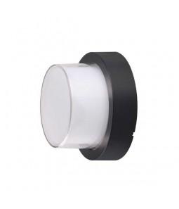 LED Sienas lampa aplis melns 15W 4200K 1500lm IP65