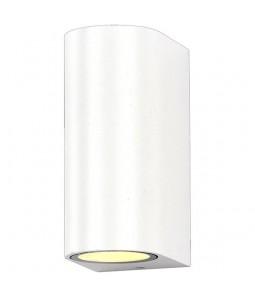 Sienas lampa alumīnijs balts IP54 2xGU10