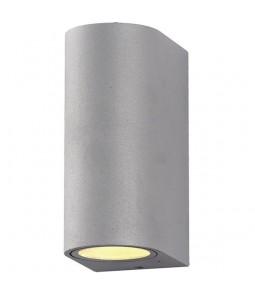 Sienas lampa alumīnijs sudraba korpuss IP54 2xGU10