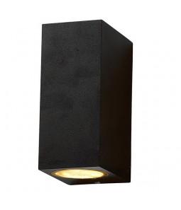 Sienas gaismeklis alumīnijs melns IP54 2xGU10