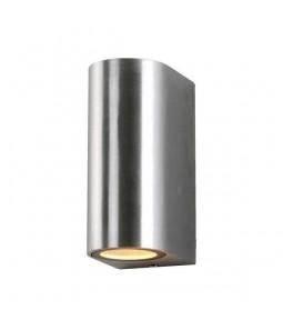 Sienas gaismeklis alumīnijs slīpēts korpuss IP54 2xGU10