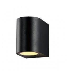Sienas lampa alumīnijs melns IP54 GU10