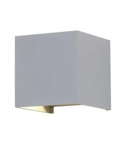 LED Sienas lampa 6W IP54 494lm pelēks korpuss 3000K