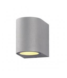 Sienas lampa alumīnijs sudraba korpuss IP54 GU10