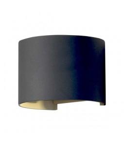 LED Sienas lampa 6W IP54 480lm melns 3000K