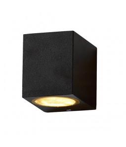 Sienas gaismeklis alumīnijs melns IP54 GU10