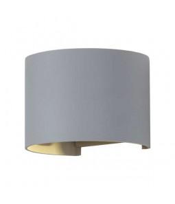 LED Sienas lampa 6W IP54 480lm pelēks korpuss 3000K