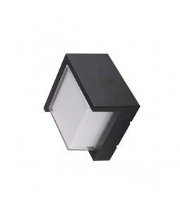 LED Sienas gaismeklis kvadrāts melns 15W 4200K 1500lm IP65