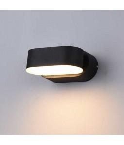LED Sienas lampa 6W IP54 535lm melns 3000K