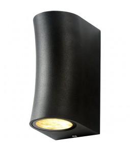 Sienas gaismeklis alumīnijs melns IP44 2xGU10