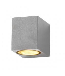 Sienas gaismeklis alumīnijs sudraba korpuss IP54 GU10