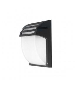 Sienas lampa matēts melns alumīnijs 1xE27