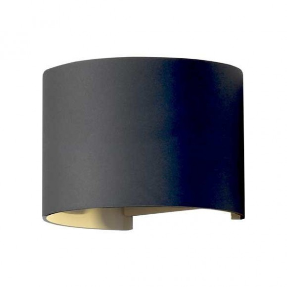 LED Sienas lampa 6W IP54 480lm melns 4000K