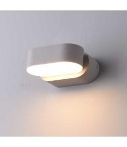 LED Sienas lampa 6W IP54 535lm pelēks korpuss 3000K