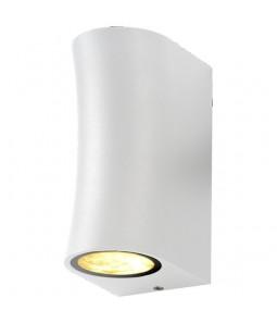 Sienas gaismeklis alumīnijs balts IP44 2xGU10