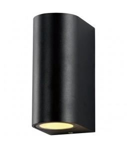 Sienas lampa alumīnijs melns IP54 2xGU10