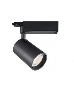 LED sliežu prožektors 25W 24° melns 4000K 3 fāzu