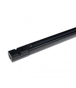 LED sliedes 3 fāzu 1m melns iekļauts padevējs un gala vāciņš