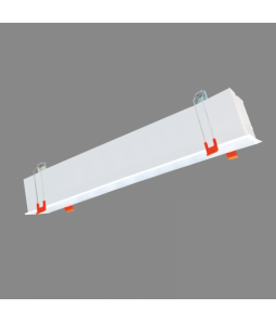 160W balts lineārs LED gaismeklis, iebūvējams griestos ESNA100 HIGH POWER 0-10V