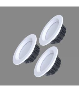 3x4W LED downlight iebūvējams BERN 3000K-6500K