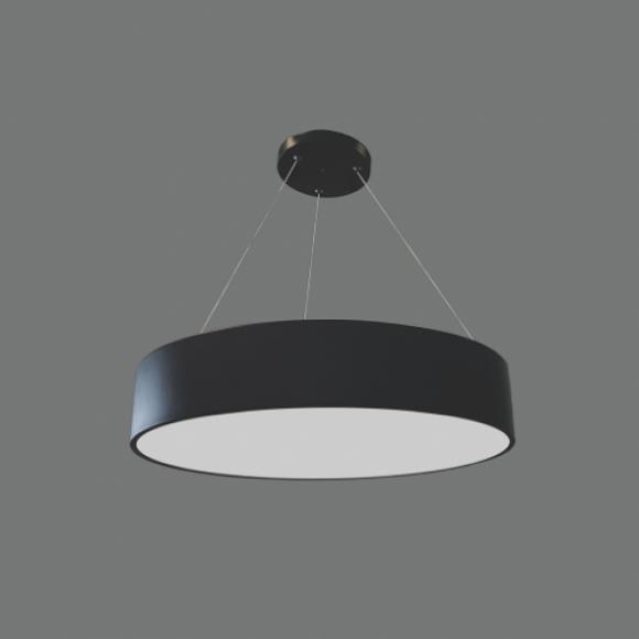40W LED lampa melnā krāsā MORA Avārijas