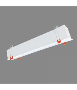 20W LED lineārs iebūvējams melns ESNA CCT Avārijas